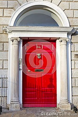 An Old Wooden Georgian Door of Dublin