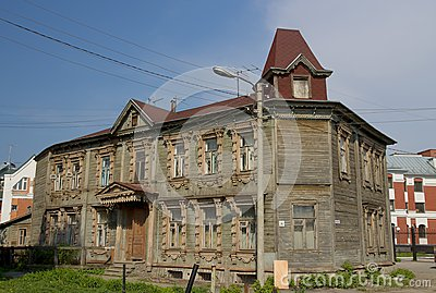 Old wooden house, Ryazan, Russia