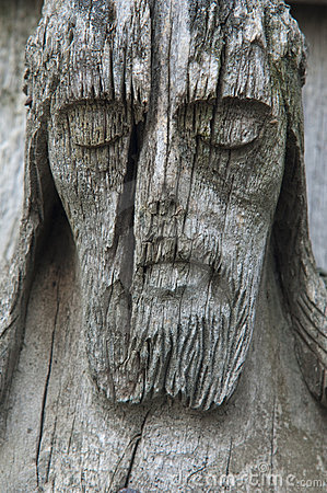 Free Old Wooden Jesus Christ Sculpture Stock Photo - 13848580