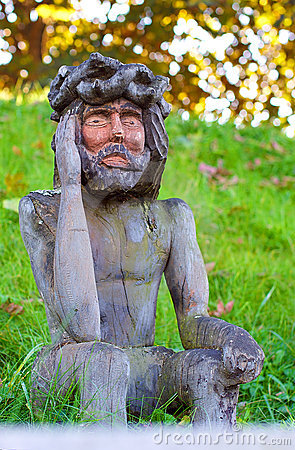 Free Old Wooden Jesus Christ Sculpture Royalty Free Stock Photo - 21664735