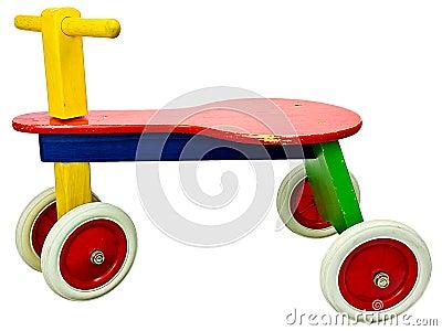 Old wooden kid bike