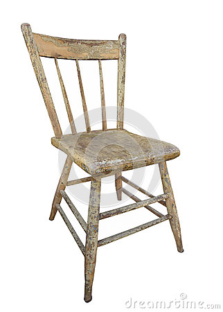 Old wooden kitchen chair isolated stock photo image 41539333 - Vieille chaise en bois ...