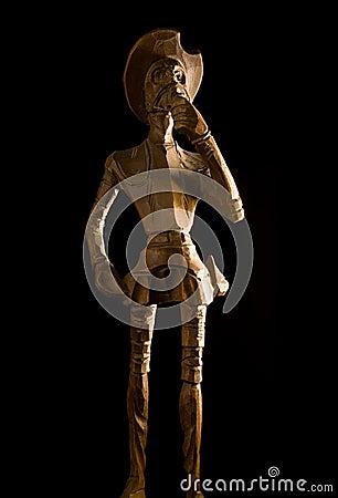 Old Wooden Knight Don Quijote de la Mancha