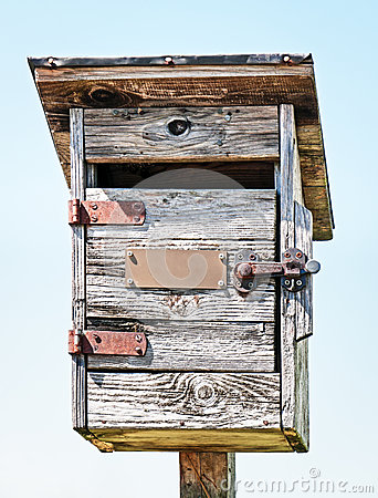 Old wooden letterbox