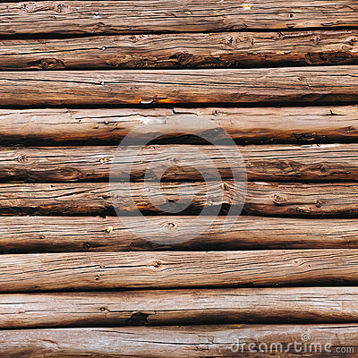 Free Old Wooden Logs Background. Weathered Wooden Wall In Brown Color. Stock Photography - 91295102