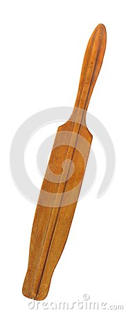 Old wooden paddle