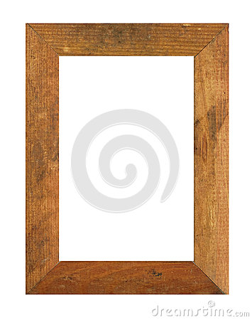 Old wooden photo frame