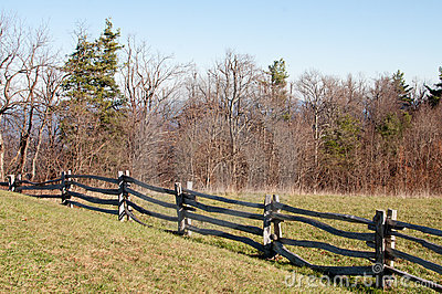 Old wooden rail fence
