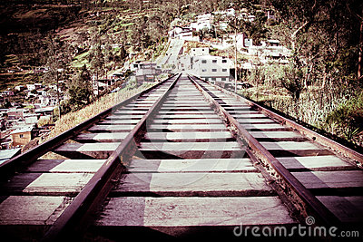 Old wooden Railway color processed