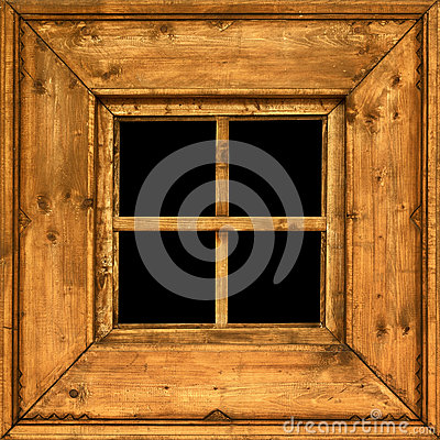 Free Old Wooden Rural Window Frame Stock Photography - 25271692