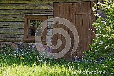 Old wooden sauna