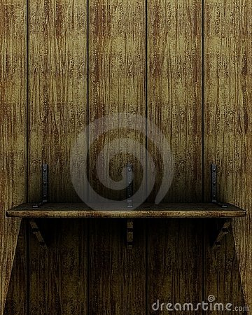 Old wooden shelf
