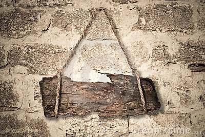 Old wooden sign
