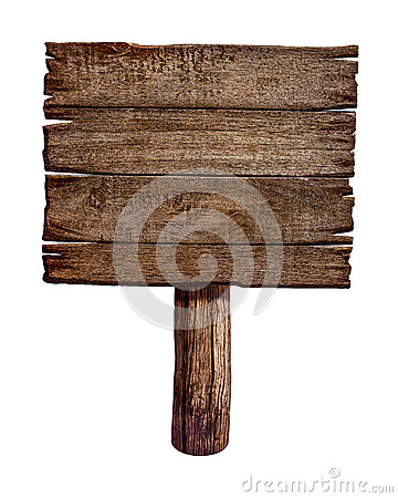 Free Old Wooden Sign Board Or Post Stock Images - 34382934