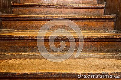 Old wooden steps