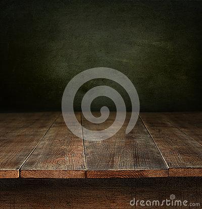 Free Old Wooden Table With Dark Background Royalty Free Stock Photos - 27193548