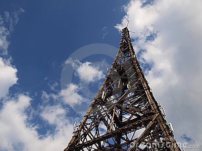 The old wooden tower radio Gliwice