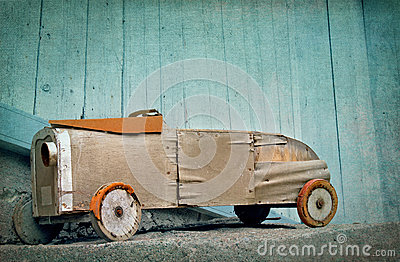 Old wooden toy car