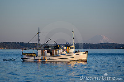 Old Wooden Trawler Coastal Boat