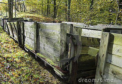 Old wooden wagons