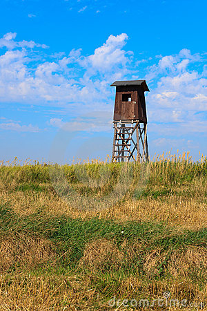 Old wooden watch tower