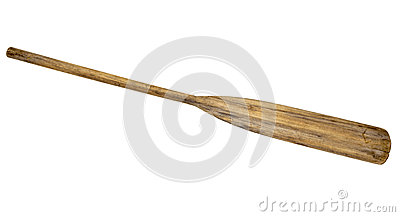 Old wooden weathered paddle