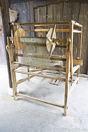Old Wooden Weaving Machine