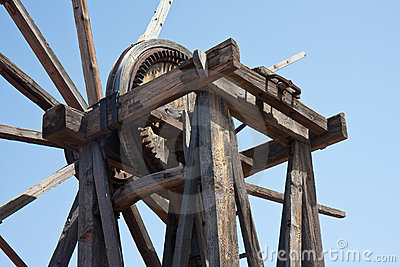 Old wooden windmill at La Palma, Canary Islands