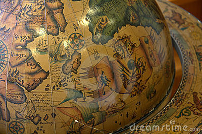 Old world globe