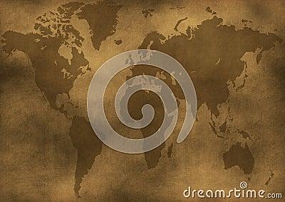Old world map illustration