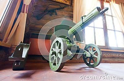 Old World War II machine gun