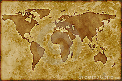 Old Worldmap Royalty Free Stock Photo Image 8370075