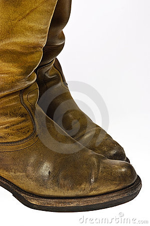Free Old Worn Cowboy Style Boots Royalty Free Stock Images - 17777449