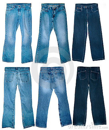 Free Old Worn Jeans Royalty Free Stock Photo - 9966685