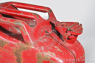Old Worn Red Jerrycan
