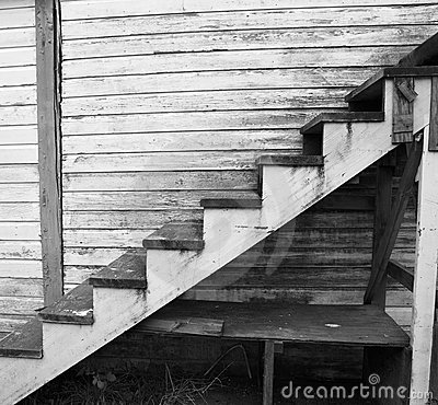 Old Worn Wood Staircase