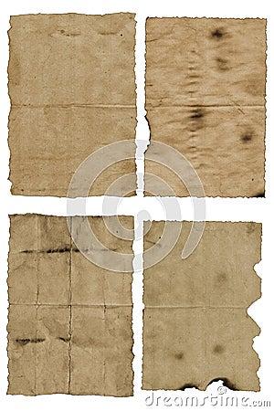 Old, wrinkled paper