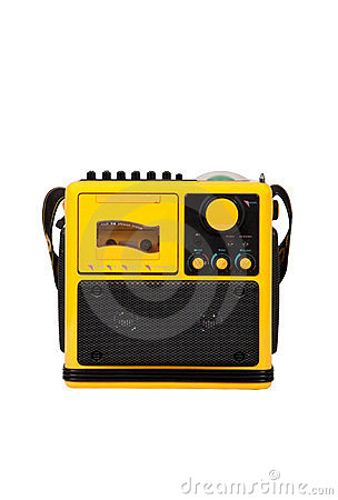 Old yellow radio