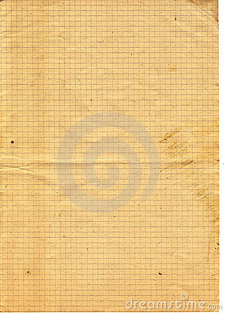Old yellow textured checked Paper