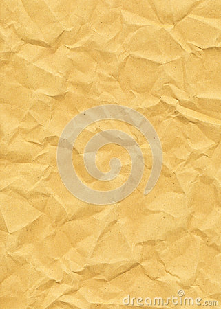 Old Yellowed Crinkled Paper