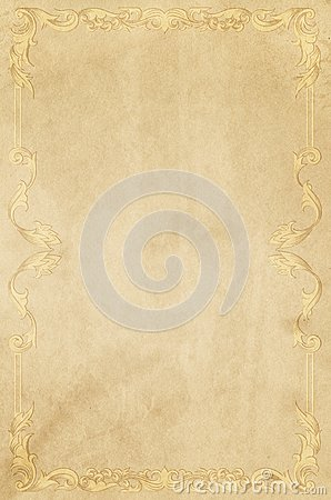 Free Old Yellowed Paper Background With Vintage Frame. Royalty Free Stock Photo - 103525885