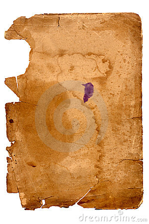 Old yellowed sheet of paper