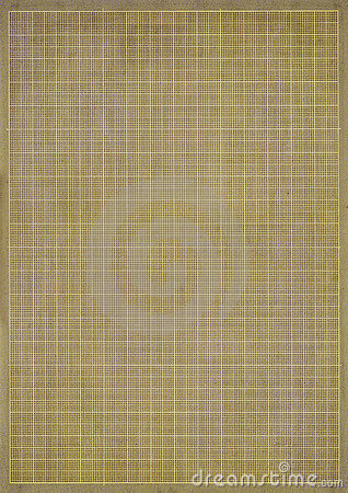 Old yellowing graph or grid paper