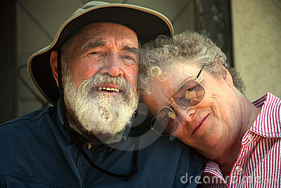 Older couple on the porch