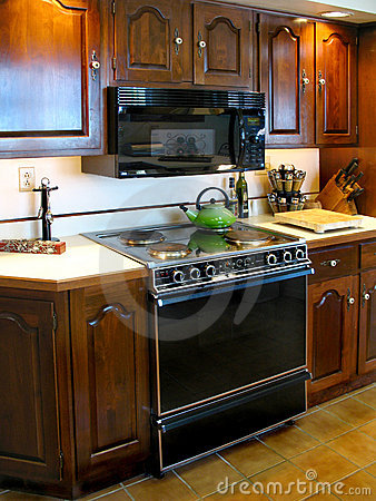 Older kitchen and stove