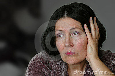 Older lonely woman