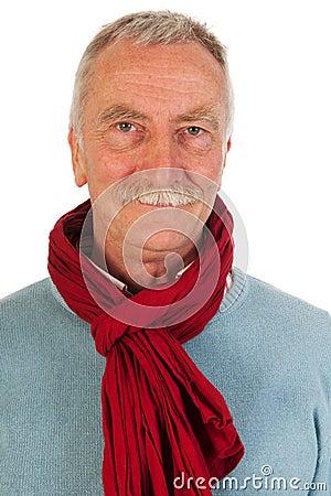 Older man looking up