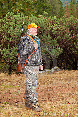 Older Man Ready to Go Hunting