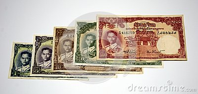 Older Thai banknote rama 9 model 9