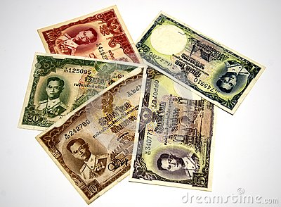Older Thai banknote rama 9 model 9